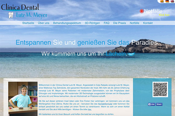 Clinica Dental Lutz Meyer website