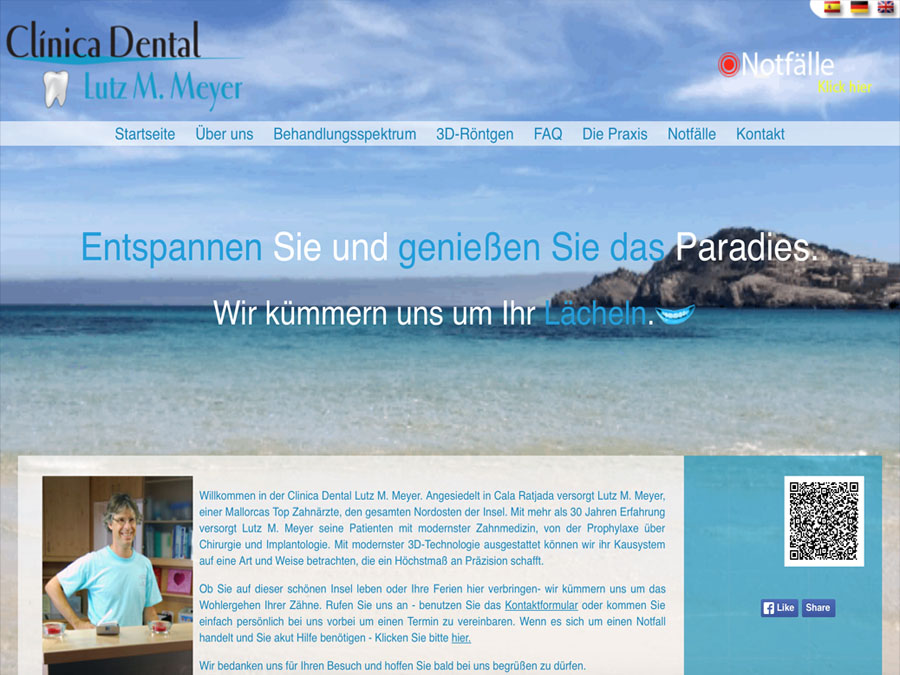 Clinica Dental Lutz Meyer Website Image